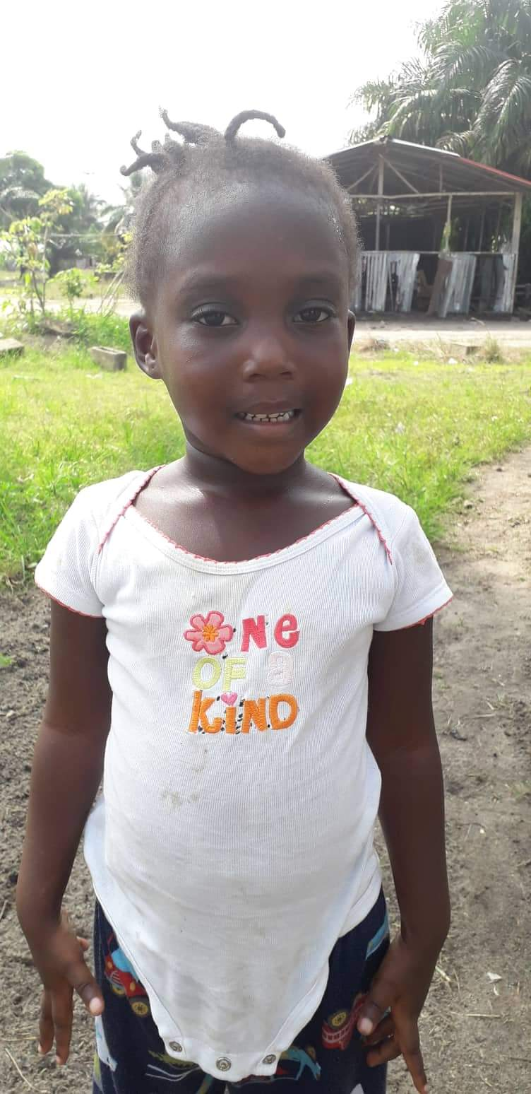Adrian Dixon (Daycare, 3 Years old, Female, Liberia.)