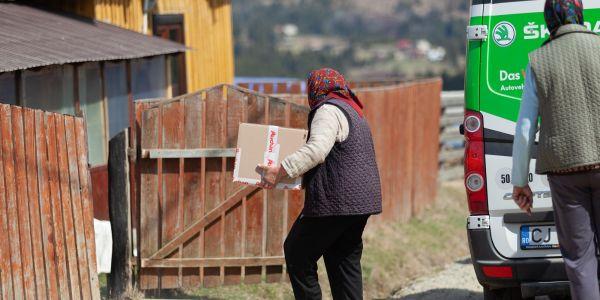 Food Delivered to Giurcuța de Sus Village in Romania